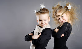 Portrait of little boys and girls Royalty Free Stock Images