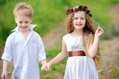 Portrait of little boys and girls Royalty Free Stock Photo