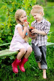 Portrait of little boys and girls Royalty Free Stock Photos