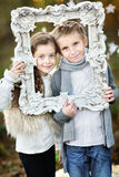 Portrait of little boys and girls Royalty Free Stock Photography