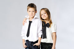 Portrait of little boys and girls Stock Photography