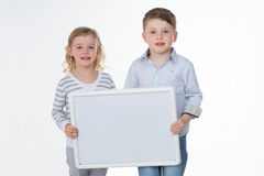 Portrait of little brothers Royalty Free Stock Photos