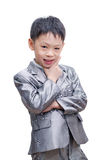 Portrait of little businessman Stock Photos