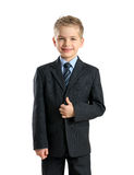 Portrait of little businessman Stock Photo
