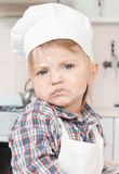 Portrait of a little chef hat and apron Stock Images