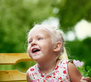 Portrait of a little child girl Royalty Free Stock Photo