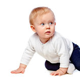 Portrait of a little child lying Royalty Free Stock Photo