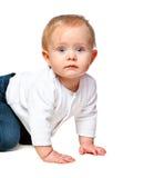 Portrait of a little child lying Stock Photo
