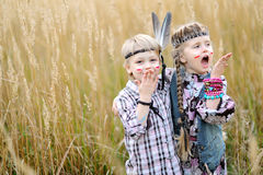 Portrait of little children Stock Image