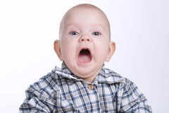 Portrait of little confused baby Royalty Free Stock Photo