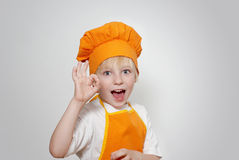 Portrait of the little cook Royalty Free Stock Photo