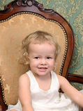 Portrait of little curly girl Royalty Free Stock Photography