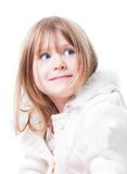 Portrait of little cut girl Royalty Free Stock Images