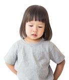 Portrait of little cute asian girl look down Stock Photo