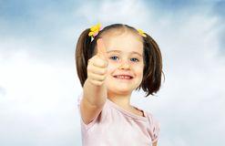 Portrait of a  little cute baby Stock Photos