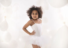 Portrait of a little cute ballet dancer Royalty Free Stock Images