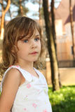 Portrait of little cute girl Royalty Free Stock Images