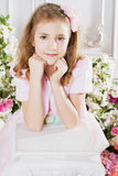 Portrait of little cute girl Royalty Free Stock Image