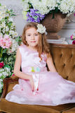 Portrait of little cute girl Royalty Free Stock Photography