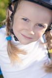 Portrait of little cute girl in helmet Royalty Free Stock Photos