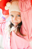 Portrait of a little cute girl Stock Photography