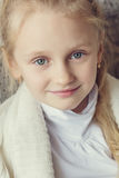 Portrait of a little cute girl Royalty Free Stock Images