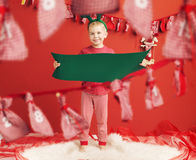 Portrait of a little elf Stock Image