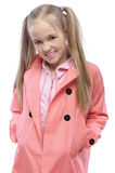 Portrait of little fair haired girl Royalty Free Stock Images