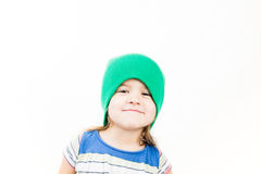 Portrait of little funky kid Royalty Free Stock Photos