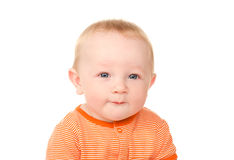 Portrait of little funny baby boy Royalty Free Stock Photography