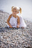 Portrait of a little gir on the beach Royalty Free Stock Photography