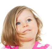 Portrait of a little girl 1,5 years Royalty Free Stock Photo