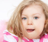 Portrait of a little girl 1,5 years Royalty Free Stock Photos