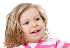 Portrait of a little girl 1,5 years Royalty Free Stock Image