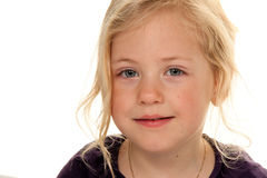 Portrait of a little girl. Royalty Free Stock Photo