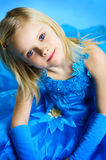The portrait of a little girl. The portrait of a beautiful little girl stock images