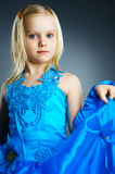 The portrait of a little girl. Stock Photo