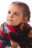 Portrait of the little girl. Portrait of the small beautiful girl Royalty Free Stock Photos
