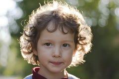 Portrait of little girl. In locking light stock photos