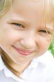 Portrait of a little girl. Closeup portrait of a cute little girl Stock Photography