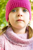 Portrait of a little girl. Spring portrait of a cute little girl Royalty Free Stock Photo
