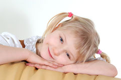 Portrait of little girl. Inside Royalty Free Stock Photos