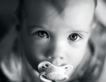 Portrait of the little girl Stock Images