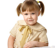 Portrait of a little girl, back to school Royalty Free Stock Photography