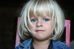 Portrait of a little girl with beautiful eyes Royalty Free Stock Images