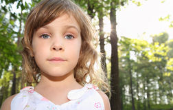 Portrait of little girl with blonde hair Royalty Free Stock Photography