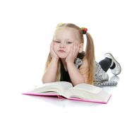 Portrait of a little girl blondes Stock Image