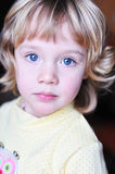 Portrait of little girl with blue eyes Stock Image