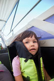 Portrait of little girl on a boat trip Royalty Free Stock Photos