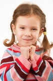 Portrait of little girl close up Royalty Free Stock Photos